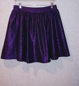 Shiny Purple Skirt